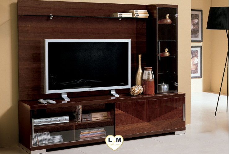 composition mur tv lignemeuble com. Black Bedroom Furniture Sets. Home Design Ideas