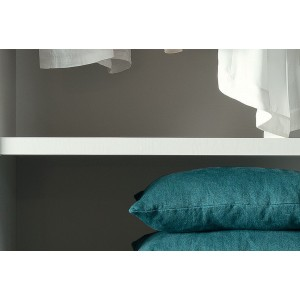 Sunset laque brillant velours gris ensemble chambre a - Chambre a coucher blanc laque brillant ...