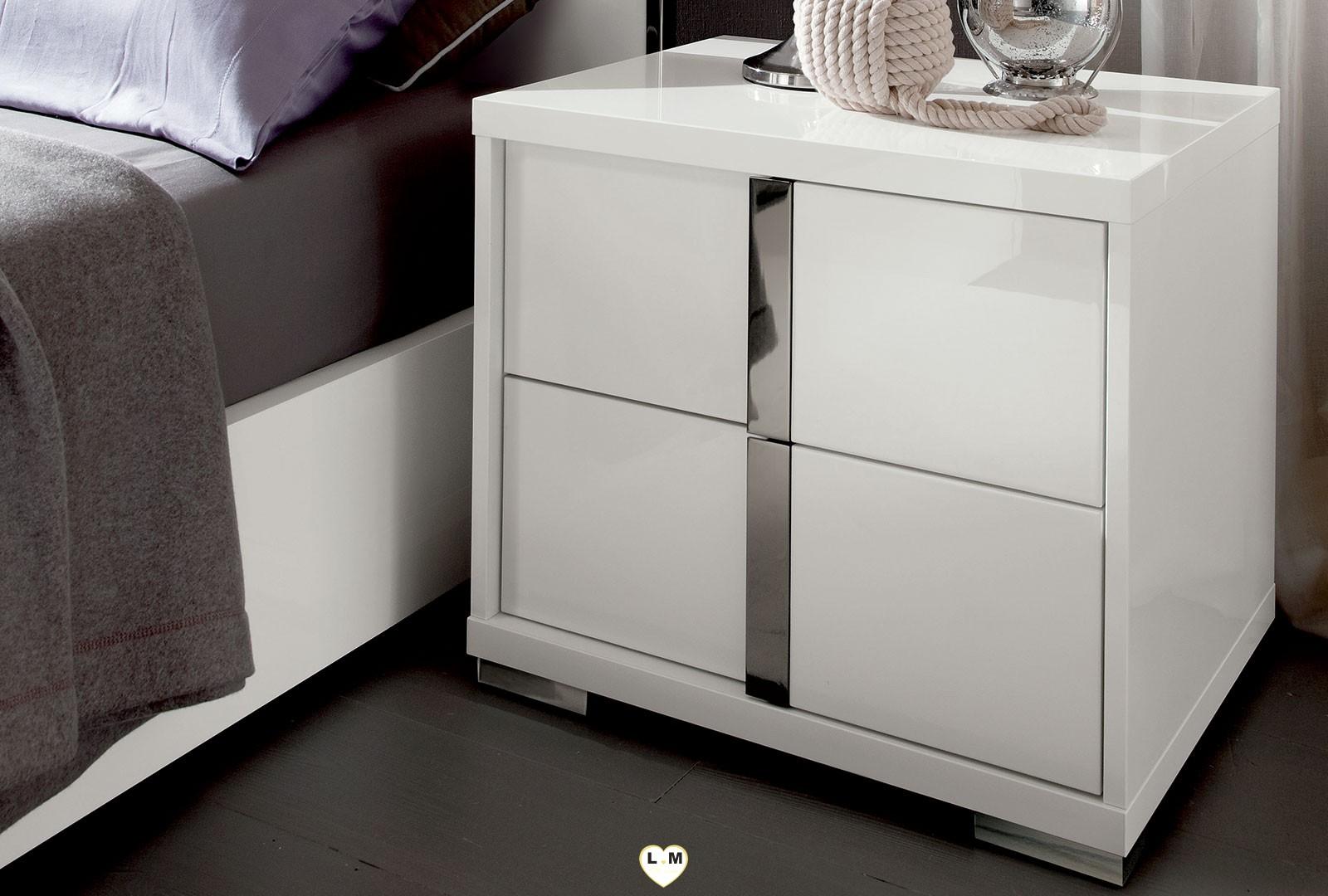 table de chevet laque blanc brillant gallery of gallery. Black Bedroom Furniture Sets. Home Design Ideas