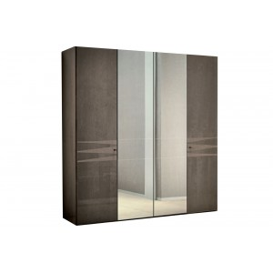 Beverly laque velours taupe ensemble chambre a coucher for Chambre a coucher 4 porte