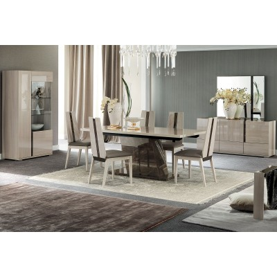 torrance laque orme clair ensemble sejour salle a manger. Black Bedroom Furniture Sets. Home Design Ideas