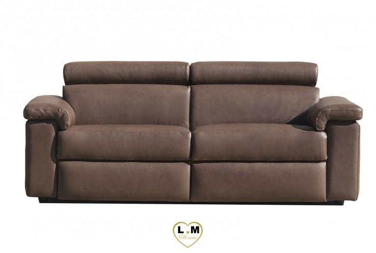 NEW YORK SALON CUIR:  Le Canapé 3 Places - Longueur: 203 cm - Profondeur: 107cm - Hauteur: 82/100 cm