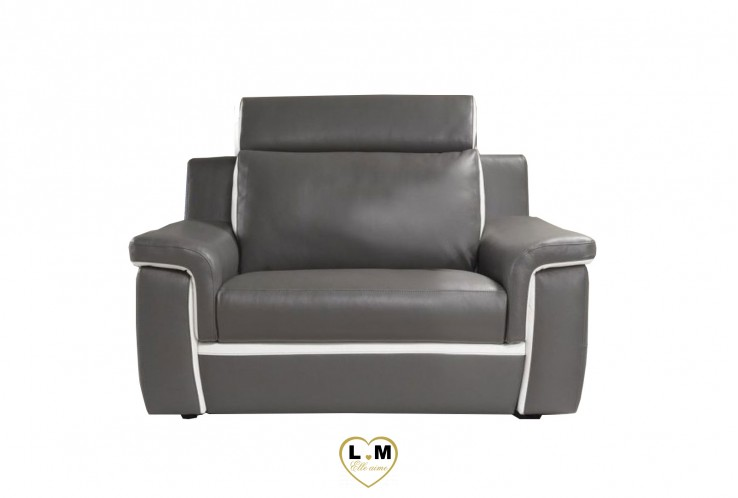 SAN JOSE ENSEMBLE SALON CUIR  : Fauteuil 1 Place