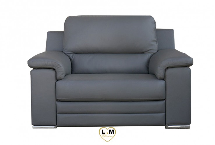 LONG BEACH ENSEMBLE SALON CUIR  : Fauteuil 1 Place