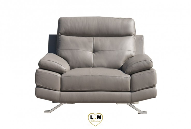 RALEIGH ENSEMBLE SALON CUIR  : Fauteuil 1 Place