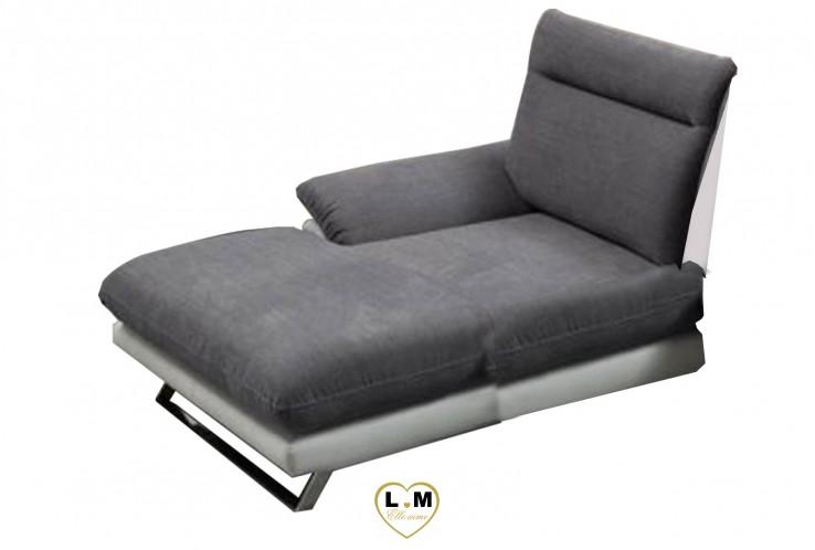HONOLULU ENSEMBLE SALON ANGLE TISSUS : Chaise Longue Gauche Fixe (100cm)