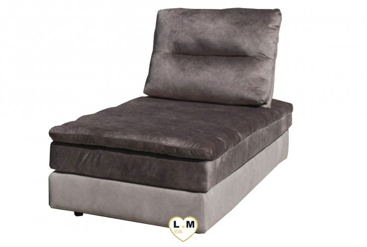 COLORADO ENSEMBLE SALON TISSUS : Chaise Longue - 78x158 cm