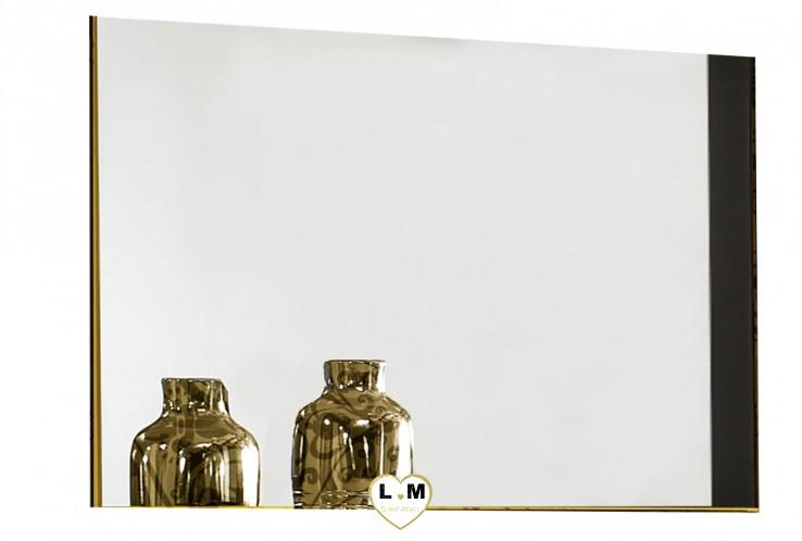 BIJOUX LAQUÉ NOIR ET DORÉ CHAMBRE À COUCHER DESIGN : Le Miroir