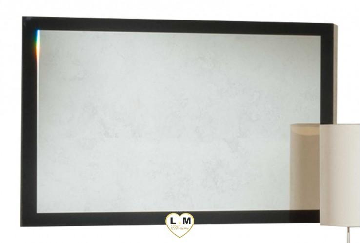 BILLY LAQUÉ NOIR CHAMBRE À COUCHER MODERNE : Le Miroir