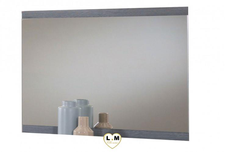 BALTHAZAR LAQUÉ GRIS CHAMBRE À COUCHER MODERNE : Le Miroir