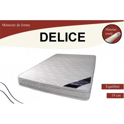 DÉLICE MATELAS MOUSSE Á MÉMOIRE ; Le Matelas 140x190 cm.