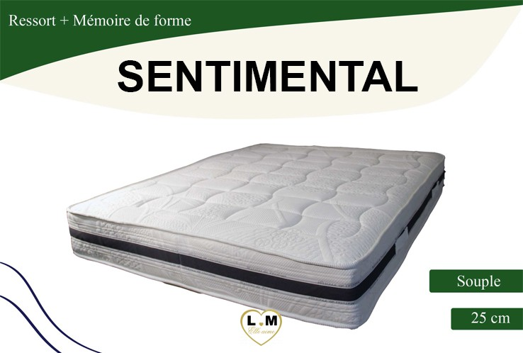 sentimental matelas ressorts le matelas 140x190 cm lignemeuble com. Black Bedroom Furniture Sets. Home Design Ideas