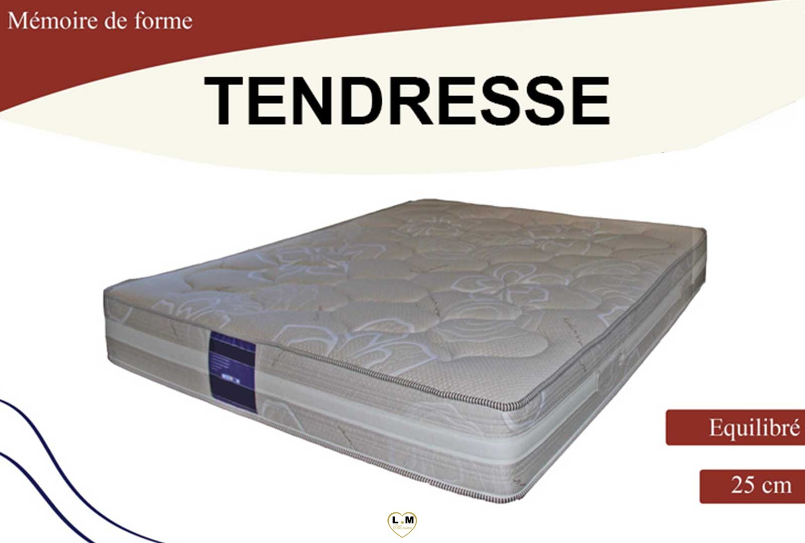tendresse matelas mousse a memoire 3 dimensions lignemeuble com. Black Bedroom Furniture Sets. Home Design Ideas