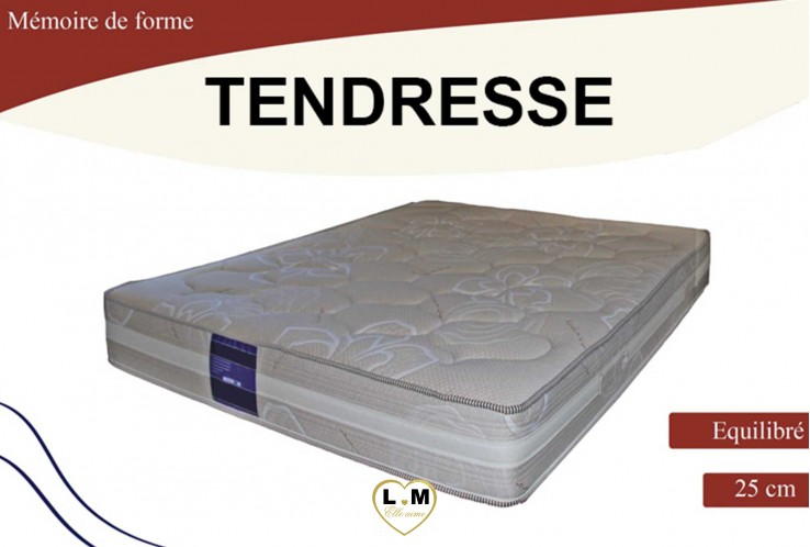 tendresse matelas mousse a memoire le matelas 160x200 cm lignemeuble com. Black Bedroom Furniture Sets. Home Design Ideas