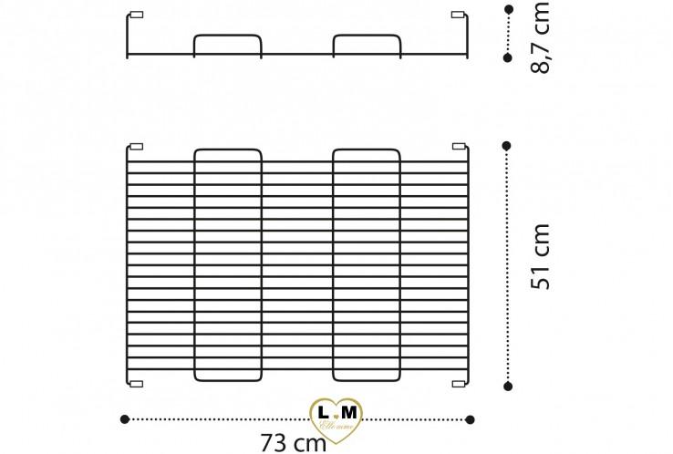 ARMOIRE AMÉNAGEMENT INTÉRIEUR : Panier extractible pour module 2 portes