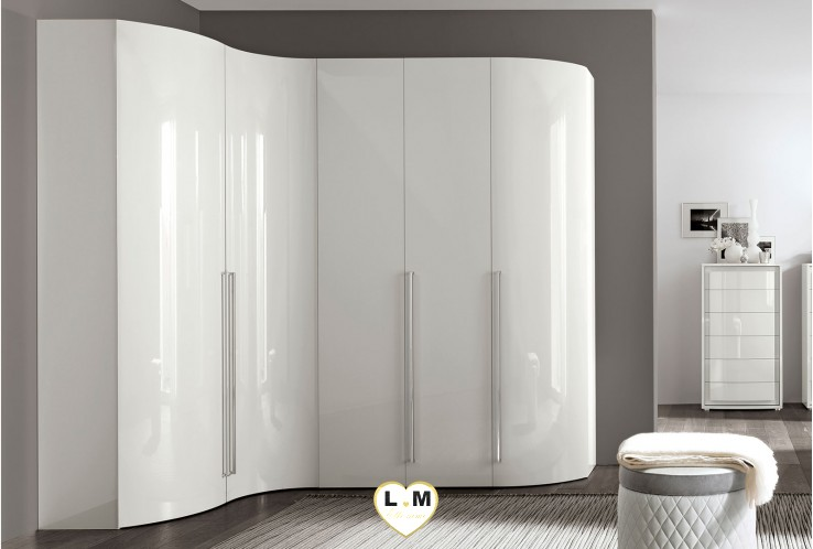 MAXIMUS LAQUÉ BLANC BRILLANT COLLECTION ARMOIRE CONTEMPORAINE