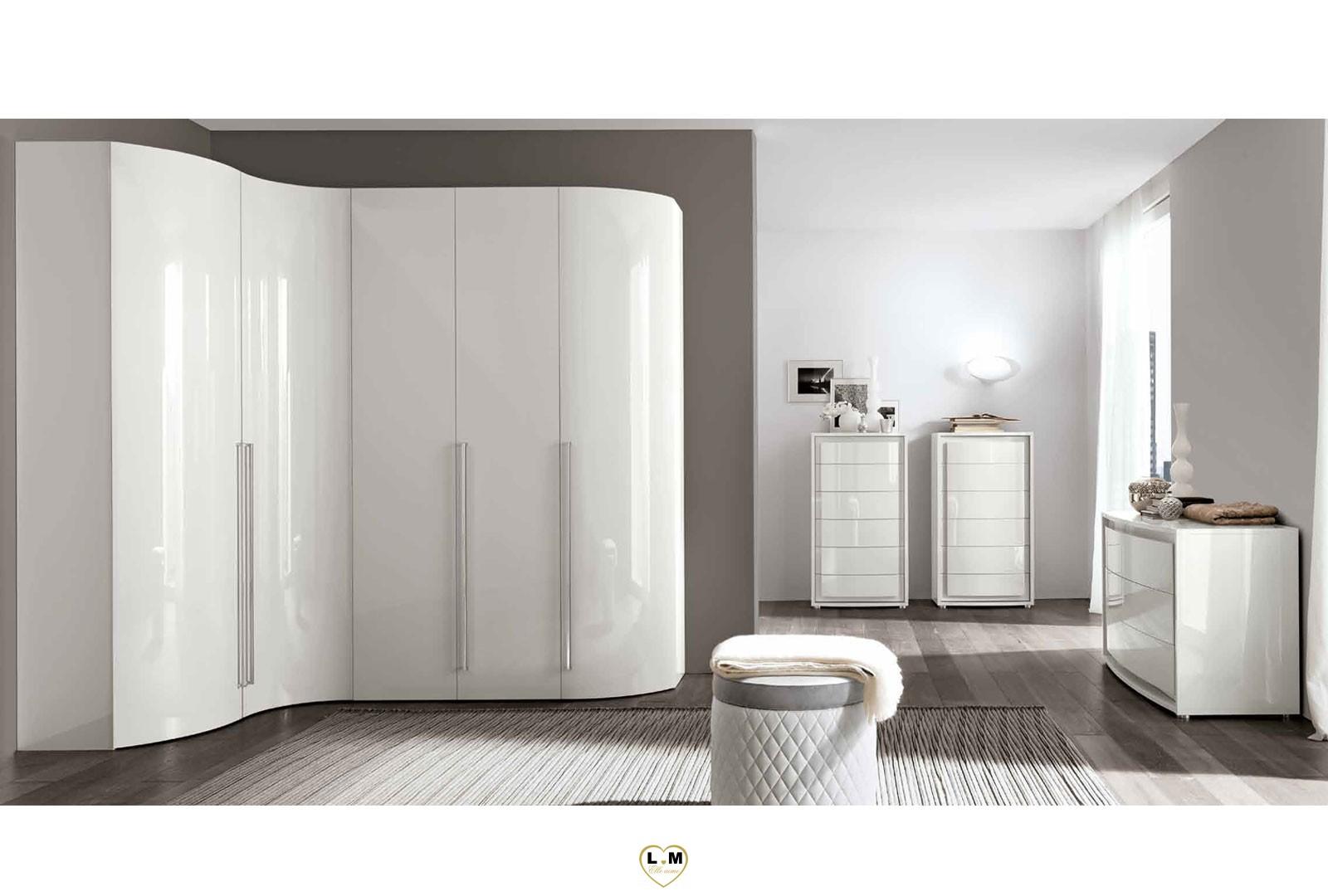 maximus laque blanc brillant chambre a coucher contemporain le chiffonnier lignemeuble com. Black Bedroom Furniture Sets. Home Design Ideas
