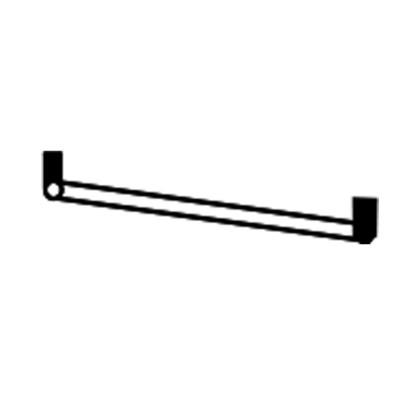AVITUS BOIS BOULEUAU ARGENTE ENSEMBLE CHAMBRE A COUCHER TENDANCE : Tube Penderie 45 cm Pour Armoire