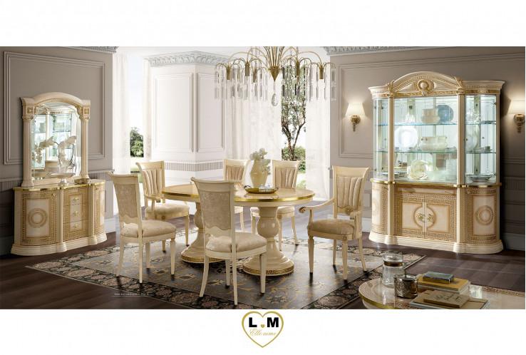 Caesar laque ivoire et dore ensemble sejour salle a manger for Ensemble buffet table manger