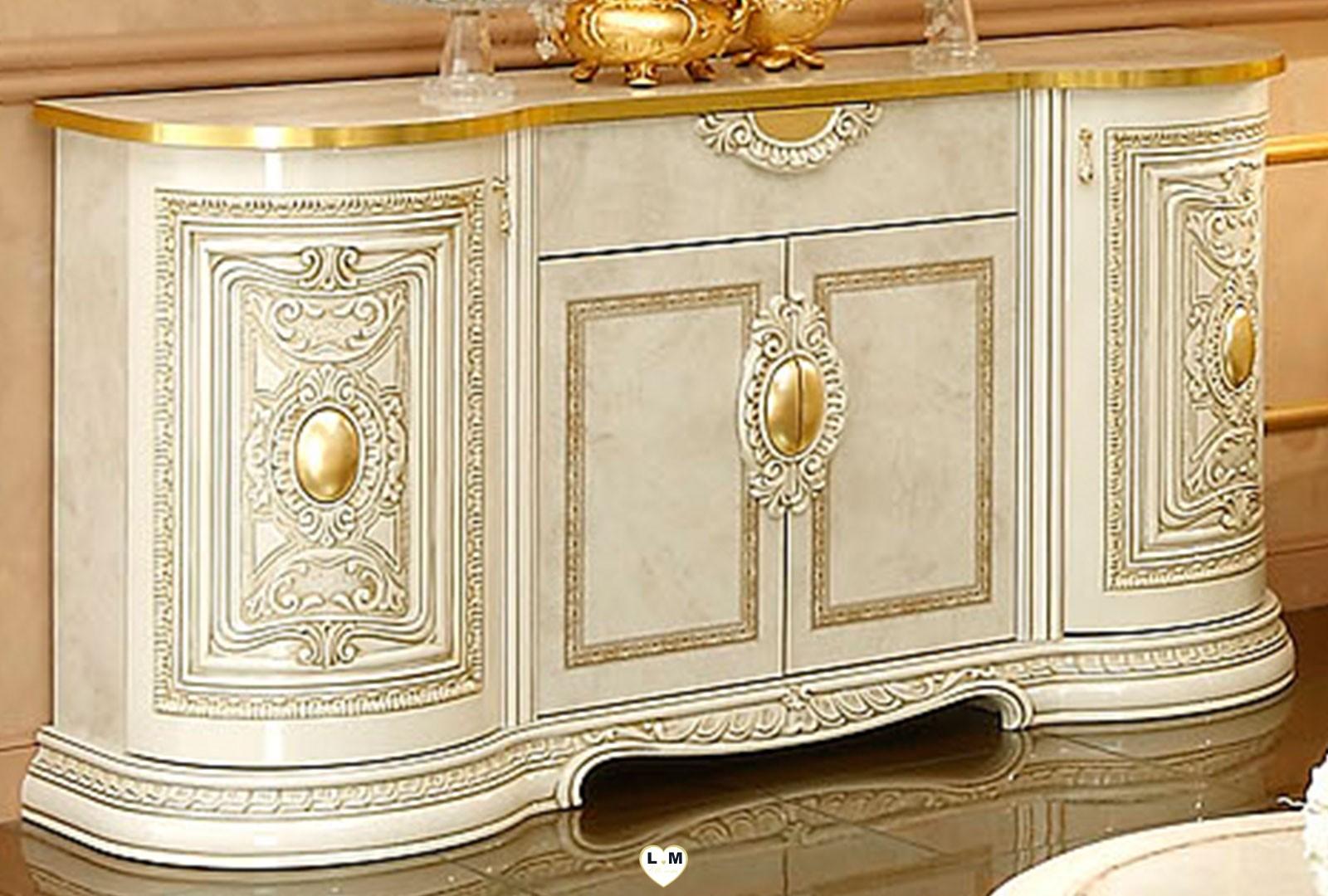 Claudius laque ivoire et dore sejour salle a manger baroque l 39 ensemble avec le living 4 - Salle a manger baroque ...