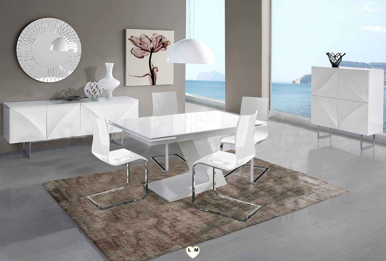 malaga composition ensemble meuble sejour salle a manger lignemeuble com. Black Bedroom Furniture Sets. Home Design Ideas