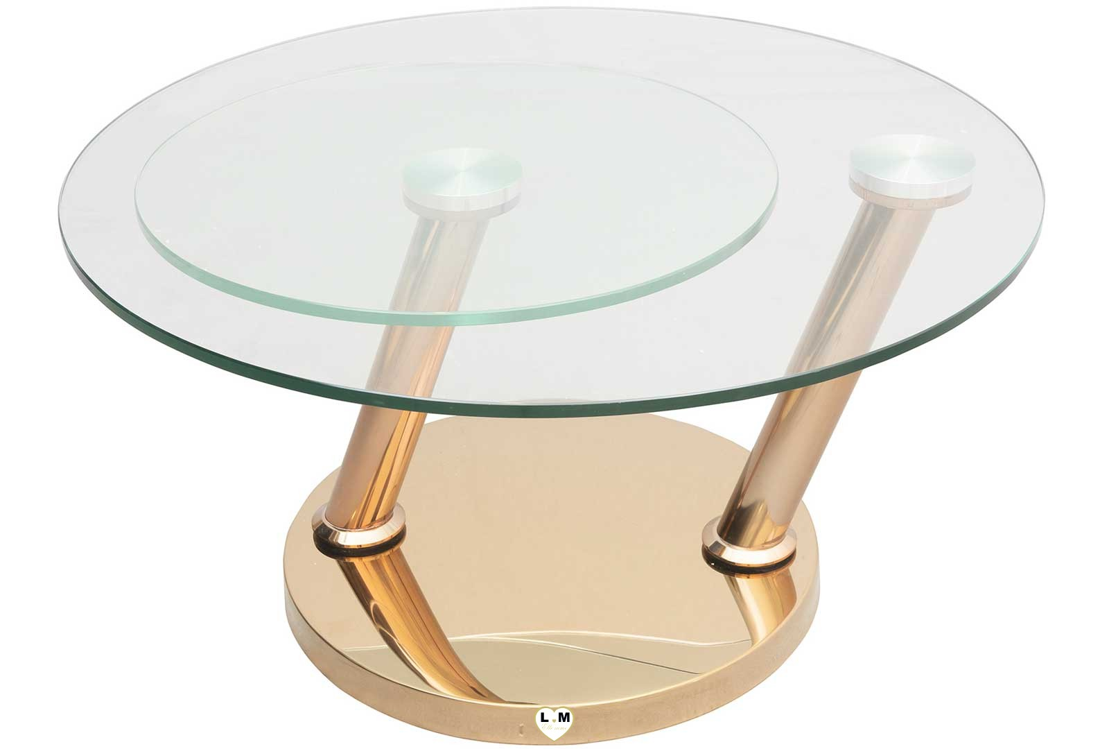 luxembourg chrome dore table basse verre articulee lignemeuble com. Black Bedroom Furniture Sets. Home Design Ideas