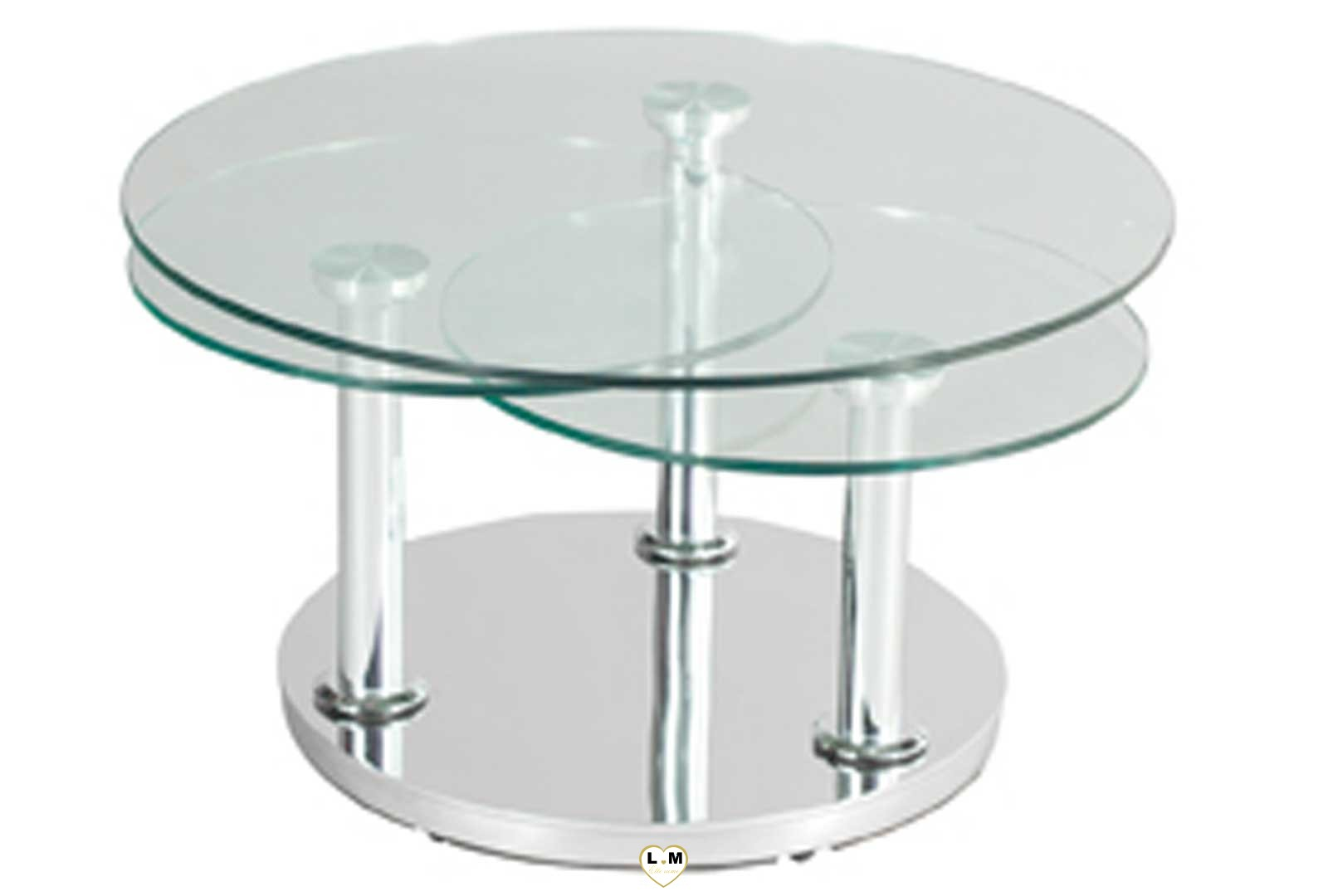 montparnasse chrome silver table basse verre articulee lignemeuble com. Black Bedroom Furniture Sets. Home Design Ideas
