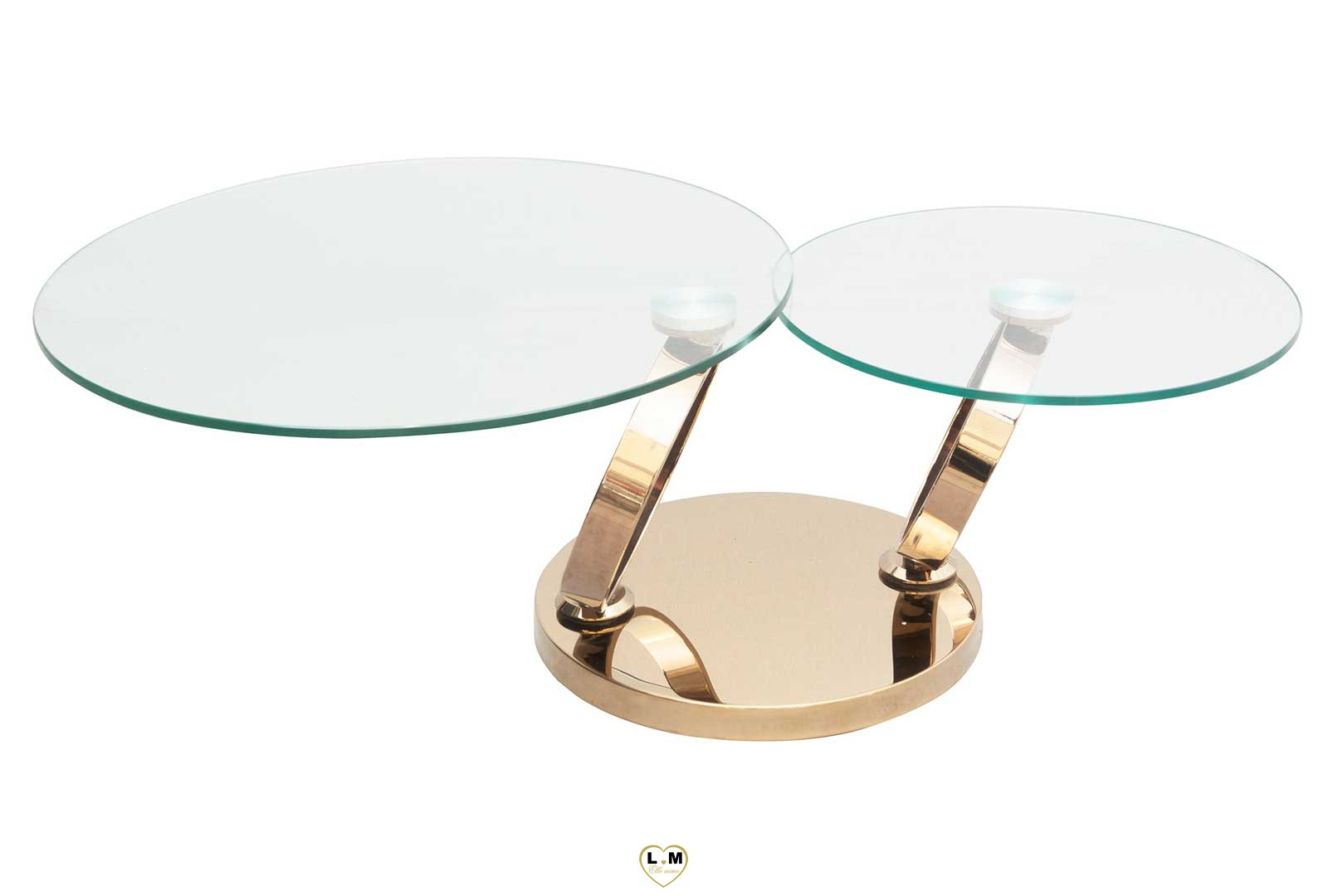 saint germain dore table basse verre articulee lignemeuble com. Black Bedroom Furniture Sets. Home Design Ideas
