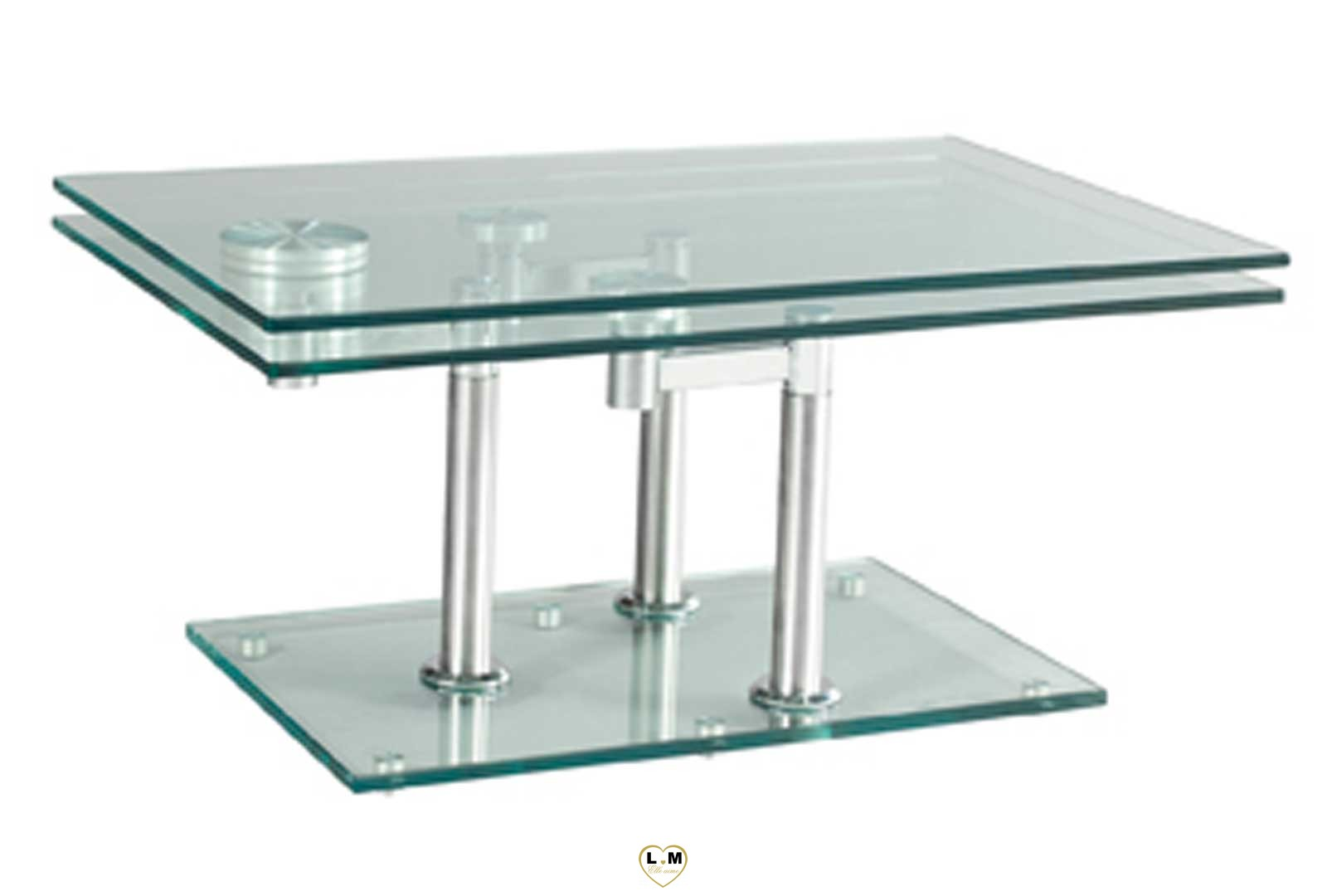 Michel ArticuleeLigne Basse Verre Saint Chrome Table Silver bf76yYg