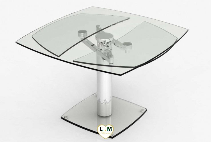 WAGRAM TABLE REPAS VERRE ALLONGES
