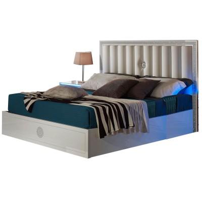 baccara laque blanc chambre a coucher design le lit 180x200 lignemeuble com. Black Bedroom Furniture Sets. Home Design Ideas