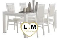 BACCARA LAQUE BLANC SÉJOUR SALLE À MANGER DESIGN : La Grande Table Repas