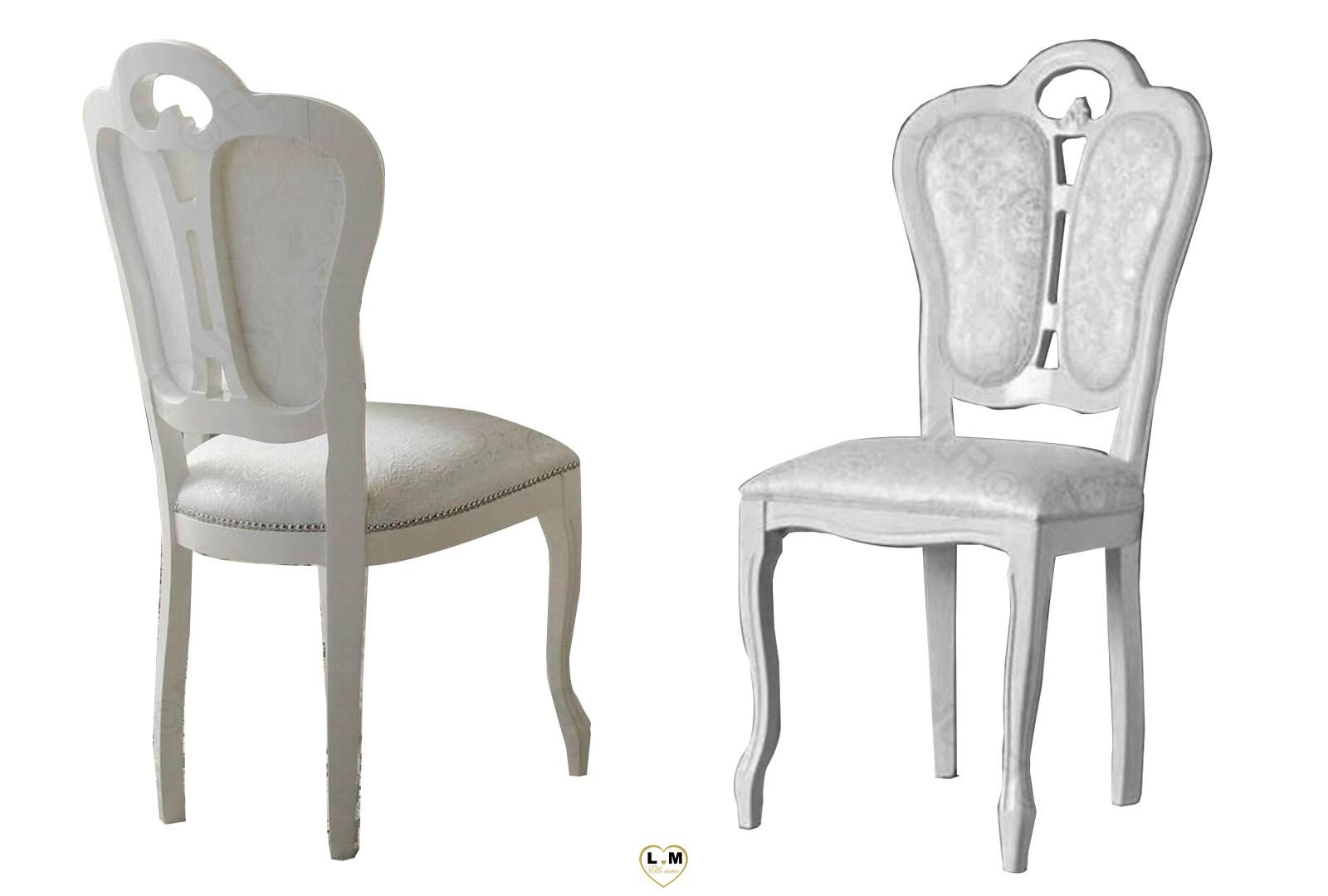 garbo laque blanc et argent salle a manger baroque la chaise tissus lignemeuble com. Black Bedroom Furniture Sets. Home Design Ideas