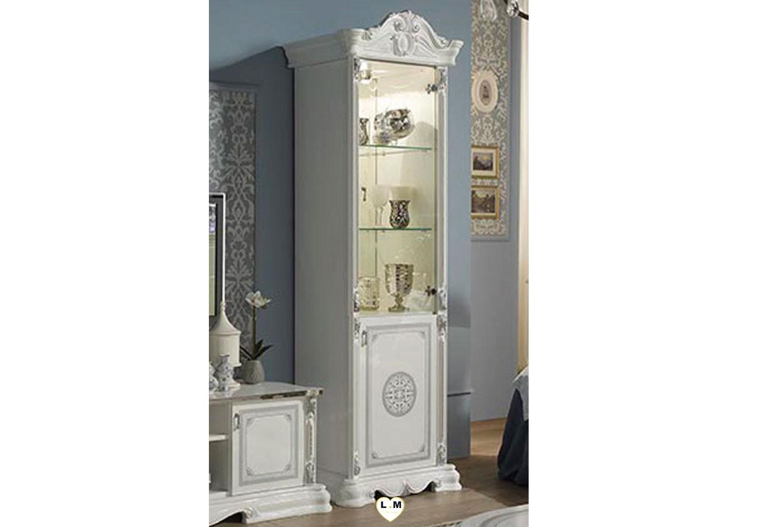 garbo laque blanc et argent sejour salle a manger baroque