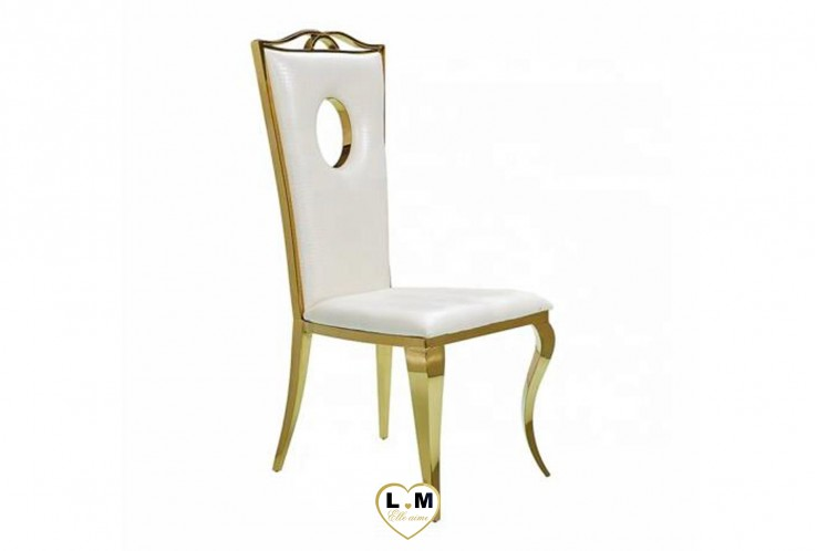 CHAISE ROYAL GOLD BLANCHE ( VENDU PAR 4 )