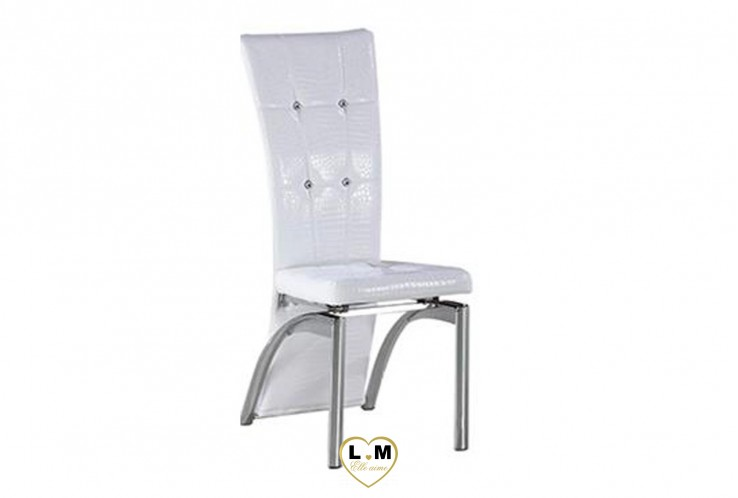 BUFFIER CHAISE CROCO BLANC