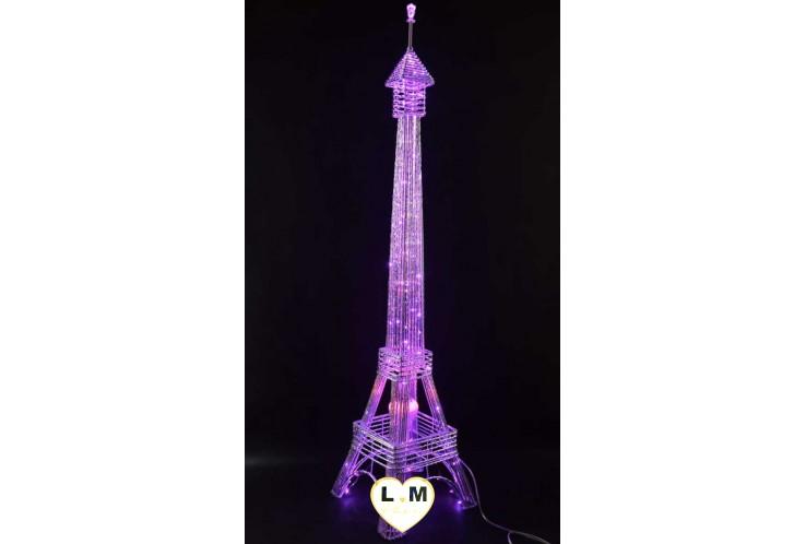 LAMPE TOUR EIFFEL LED ROSE MUSIQUE ET BLUETOOH
