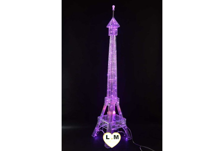 LAMPE TOUR EIFFEL LED ROSE