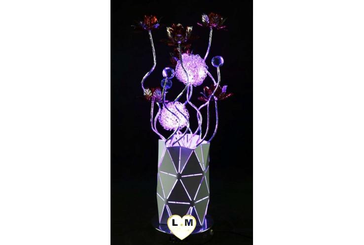 LAMPE FUTURISTA LED VIOLET