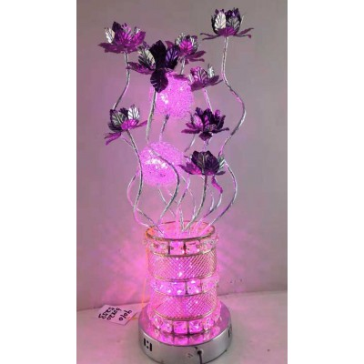 LAMPE COURONNE LED ROSE