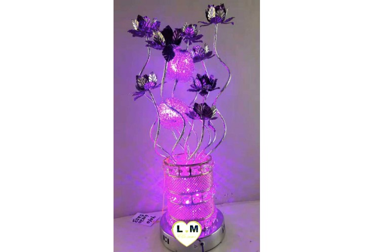 LAMPE COURONNE LED VIOLET