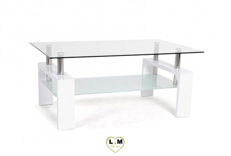 JACQUARD TABLE BASSE BLANCHE
