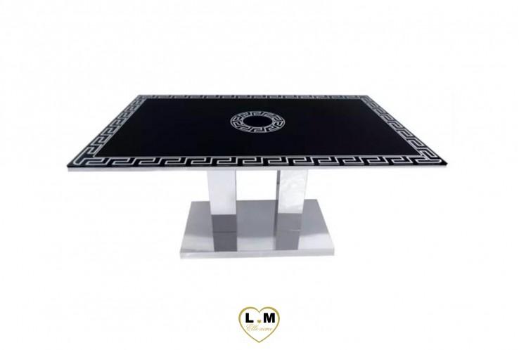 KALFA TABLE BASSE NOIR SERIGRAPHIE