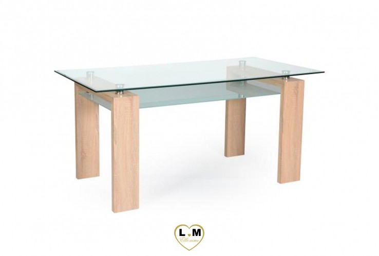 PERRET TABLE REPAS CHENE GRIFFE
