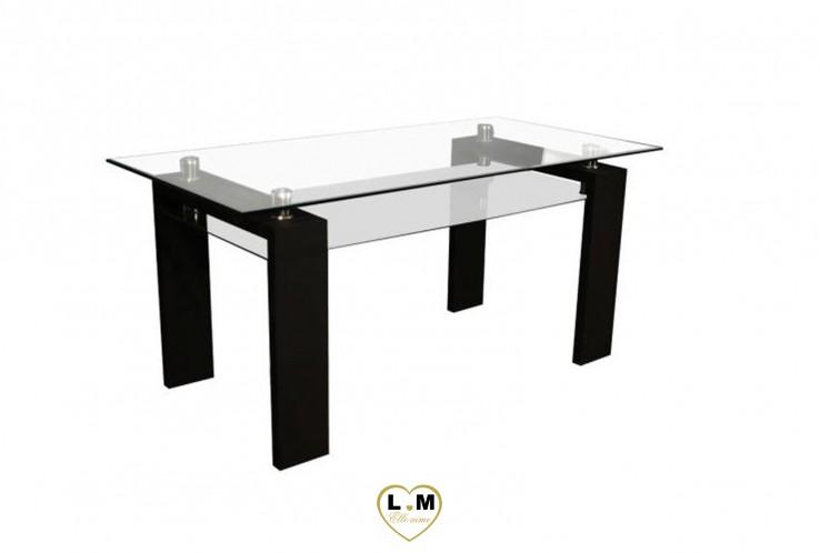 PERRET TABLE REPAS NOIR