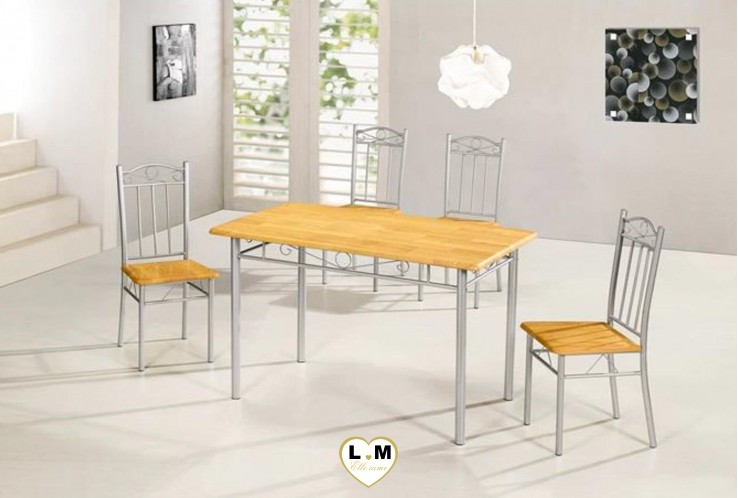 NANCY ENSEMBLE TABLE DE CUISINE ECO HETRE