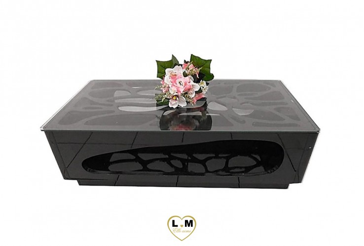 HUET TABLE BASSE NOIR LAQUE