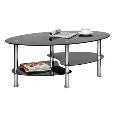 TABLE BASSE GOMME NOIR
