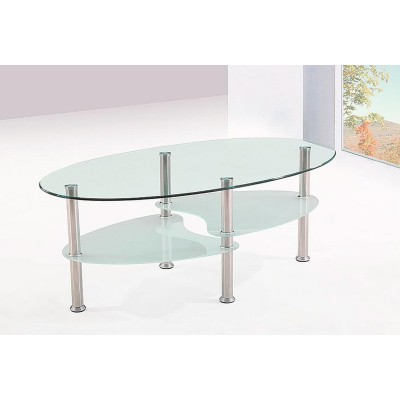 TABLE BASSE GOMME TRANSPARENT