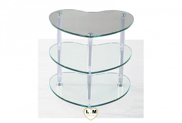 GODART TABLE BASSE VERRE TRANSPARENT